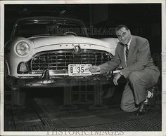 1955 Press Photo License plate number is Alan Ameche's old jersey number.. in Collectibles, Photographic Images, Contemporary (1940-Now) | eBay