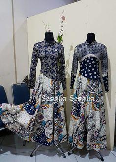 Batik Batik Fashion, Abaya Fashion, Muslim Fashion, Fashion Dresses, Model Dress Batik, Batik Dress, Abaya Designs, Kurta Designs Women, Dress Batik Kombinasi