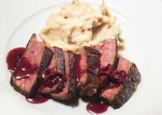 made this for valentine's day: pan seared strip steak with red-wine pan sauce and pink-peppercorn butterhttp://www.bonappetit.com/recipes/2011/02/pan_seared_strip_steak_with_red_wine_pan_sauce_and_pink_peppercorn_butter
