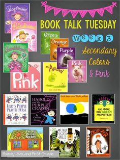 Over 30 book titles to use with Primary Colors, Secondary Colors ...