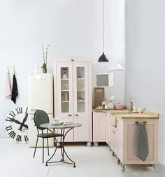 Check out these adorable inspirations for pink kitchen that you can use for your kitchen remodel reference.