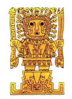 A depiction of Viracocha