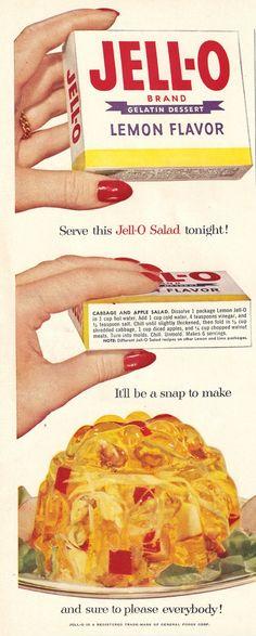 Cabbage and Apple Salad #jello