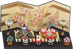 a compact size doll emperor and empress dolls Shippo record of properties mini-doll