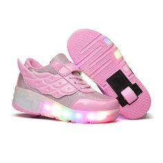 Heelys Blossom Junior Girls Velcro Heely Wheel Roller Shoe
