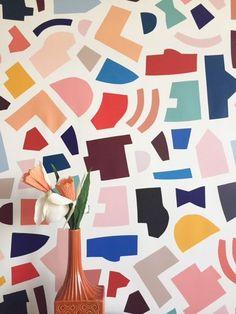 City Plan Multi Color Wallpaper — KATE ZAREMBA COMPANY