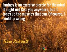 May you rest in a world of chaos and magic, thank you for creating a most wondrous world to escape to. to Terry Pratchett