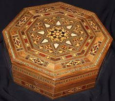 Octagon Handmade Marquetry Inlaid Mosaic Wooden Jewelry Multipurpose Box Wooden Jewelry, Jewelry Box, Mosaic, Decorative Boxes, Marquetry, Handmade, Ebay, Home Decor, Jewellery Box