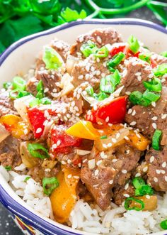 """<p>Slow Cooker Beef and Bell Peppers – a super easy slow cooker meal, all you need is about 10 minutes of prep time and you end up with one delicious meal.</p> <p><a href=""""http://www.jocooks.com/healthy-eating/slow-cooker-beef-and-bell-peppers/"""" target=""""_blank"""">Get the recipe here.</a></p>"""