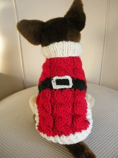 Santa Dog Sweater.  This is too sweet!!