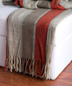 Take a look at this Natural & Rust Throw by Rizzy Home on #zulily today!