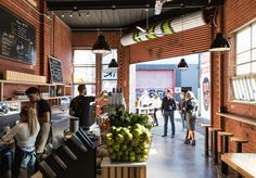 Shoot some hoops while you wait for a panini, juice or coffee. Cafe Food, Melbourne, Food And Drink, Juice, Coffee, Eat, Kaffee, Juice Fast, Juicing