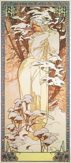 1900 The Seasons 'Winter' Alphonse Mucha