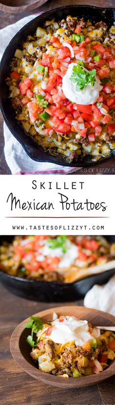 Skillet Mexican Potatoes