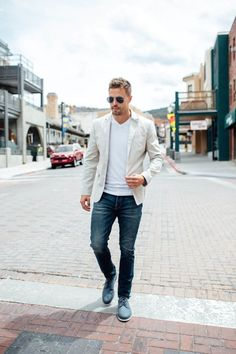 Love This Look, Men Style With Blazer And Jeans 14
