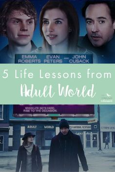 Life lessons fro the movie Adult World with Evan Peters, Emma Roberts, and John Cusack. This movie is super millennial in the best and worst way possible, with some valuable insight for personal development and growth in your twenties, post college.