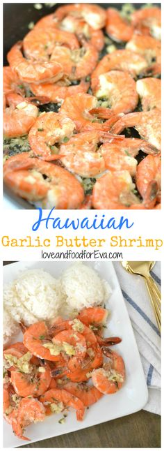 Hawaiian Garlic Butter Shrimp - inspired by the North Shore food trucks in Oahu!