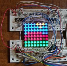 8×8 RGB LED array with a Raspberry Pi