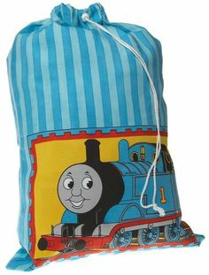 Thomas & Friends 20-by-30-Inch Laundry Bag by Thomas & Friends. Save 65 Off!. $6.99. Made from 100 percent cotton; machine wash. Great for storing toys, a Thomas sleeping bag, or laundry. One kid-themed laundry bag from Dan River. Measures 20 by 30 inches. Features Thomas the Tank Engine in vivid blue, yellow, and red. All Aboard! Join Thomas and Friends on their fun filled journey thru the bedding collection. This charming collection is a reflection of the popular TV show which enc...