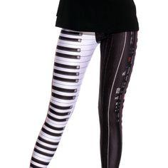 Piano Leggings Printed Leggings Designer Product Dance Leggings Yoga...  ( 46) ❤ 579dd17af904