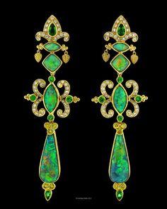 earrings with opals Paula Crevoshay