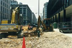 The pedestrian mall was torn out in 1992 to allow vehicular traffic on G Street in front of the MLK, JR. Memorial Library