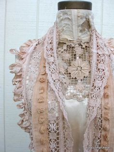 Lace Infinity Scarf from Antique Tea Stained by stacyleighatelier