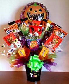 halloween candy cauldron bouquet - Google Search