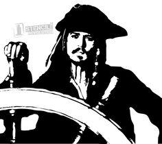 Vector Preto E Branco potc-jack-sparrow Jack Sparrow Dibujo, Jack Sparrow Drawing, Sparrow Art, Face Stencils, Stencil Art, Stenciling, Art Sketches, Art Drawings, Silhouette Art