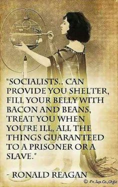 Socialism = your freedom taken away. That is why people from Socialist countries move to America. How many Americans want to move to a Socialist or Communist country?