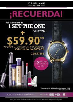 ¡Súper oferta! #TheOne lo último en cosméticos europeos + reloj #Oriflame