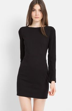 mesh back sheath dress / maje