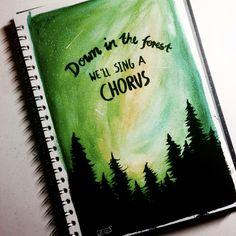jessydrwss on Instagram - .:we'll sing a chorus:. @twentyonepilots / ~forest- •Watercolor •Ecoline brush pen black •Black & white Acryl paint