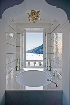 bathtub with view to the sea, Villa Tre Ville, Amalfa Coast