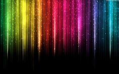 Great Colorful Spectrum Rain Blackbg Rainbow Colors Lines