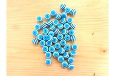 Χάντρα Νο10 27314LB  Χάντρες γαλάζιες με λευκή ρίγα.Μέγεθος: 10mmΣυσκευασία 50 τεμαχίων. Triangle, Beads, Beading, Bead, Pearls, Ruffle Beading, Pony Beads, Seed Beads