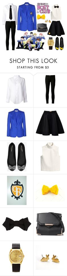 """""""Ouran High School Host Club Uniform"""" by willful-wyvern ❤ liked on Polyvore featuring Episode, Crippen, Michael Kors, STELLA McCARTNEY, MSGM, Yves Saint Laurent, H&M, River Island, Hot Topic and Alexander Wang"""
