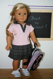 Arts and Crafts for your American Girl Doll: School Outfit for American Girl Doll