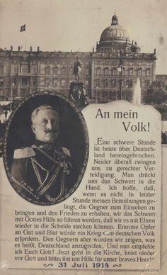 Kaiser Wilhelm II's speech about war.