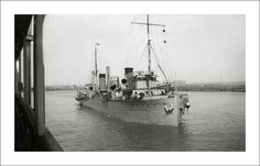 United States Army Corps of Engineers Dredge, William T Rossell, on the Christina River, Wilmington, Delaware, in April, 1934.  Sunk in a collision in 1957.  Steve Given
