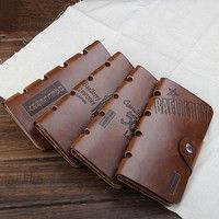 Classic Leisure Retro Journey Originality All-match Modern style PU leather wallet !Gift for Man!