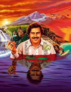 Pablo Escobar by Nicolás Rosenfeld Pablo Escobar Poster, Pablo Escobar Quotes, Don Pablo Escobar, Pablo Emilio Escobar, Arte Dope, Dope Art, Narcos Wallpaper, Scarface Poster, Scarface Movie