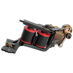 New Cast Iron Tattoo Machine Gun 10 Wrap Coils Liner Shader Professional Alloy durable *** Read more  at the image link. (This is an affiliate link and I receive a commission for the sales) #TattooSupplies