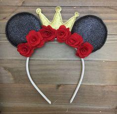 Diy Mickey Mouse Ears, Diy Disney Ears, Disney Mickey Ears, Minnie Mouse Party, Walt Disney, Disney Diy Crafts, Mickey Mouse Birthday, Moana Birthday, Diy Headband