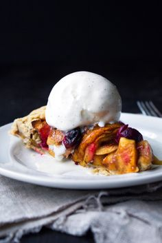 Apple-Cranberry Galette | GF & Refined Sugar Free. Can also use ready ...