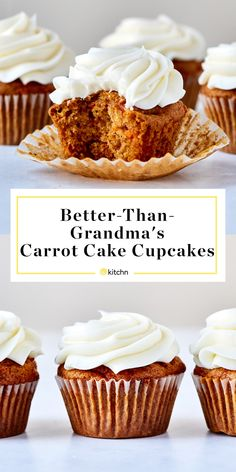 These easy carrot cake cupcakes with cream cheese frosting are great to whip up for birthday parties, holidays, fancy dinners or weeknights where you want a dessert to jazz things up. They are easy to bake, and the frosting is delicious. Easy Carrot Cake, Carrot Cake Cupcakes, Cupcake Cakes, Carrot Cupcake Recipe, Cup Cakes, Easy Carrot Recipes, Moist Cupcakes, Carrot Cake Muffins, Cupcake Recipes