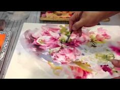 How to paint lotus & garlands part 2 by Aj. Adisorn - YouTube