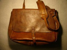 vintage leather postal bag. want!