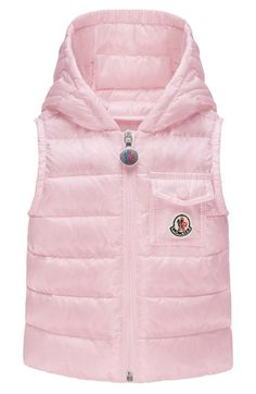 Moncler 'Medard' Hooded Down Vest (Baby Girls) available at #Nordstrom