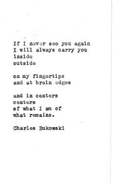 Charles Bukowski poem hand typed vintage typewriter quote